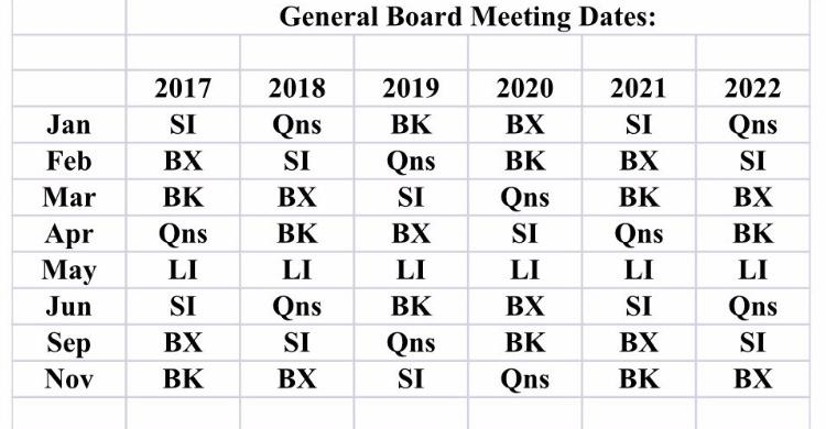 meeting dates 2020